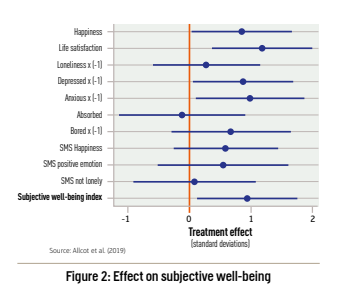 Figure 2: Effect on subjective well-being