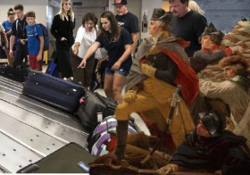 "Photo - ""Washington Crosses the Luggage"""