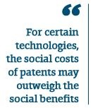 Image: For certain technologies, the social costs of patents may outweigh the social benefit