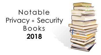 Image: Stack of Privacy and Security books for 2018