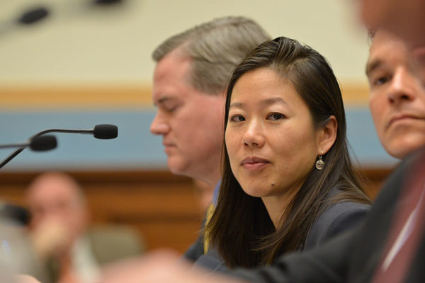 Image: Professor Colleen Chien testifying before Congress.