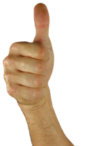 Image: Hand with thumbs up sign