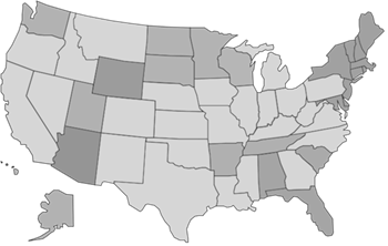 Image: Map of US States